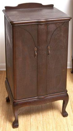 Unusual Mahogany Music Cabinet