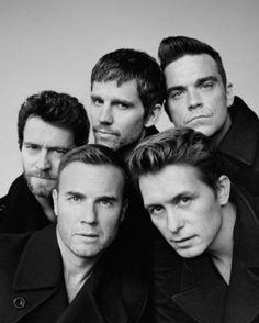 Take That: Howard Donald, Jason Orange, Robbie Williams, Gary Barlow and Mark Owen Gary Barlow, Take That Band, Howard Donald, Jason Orange, Mark Owen, Isabel Ii, Robbie Williams, Raining Men, Music Icon