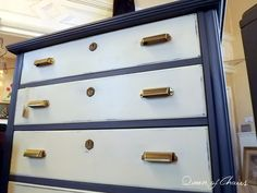 Queen of Chairs: Blue and White Painted Furniture & When to Stop
