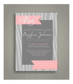 Baby Shower invitation prints