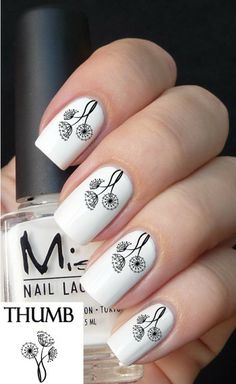 dandelion flowers nail decals | Decals by Land