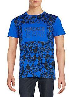 Versace Jeans Logo Tee - Blue - Size 4