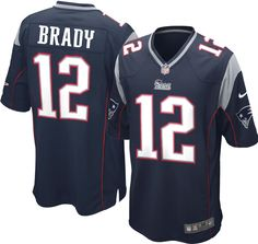 6d9608d9400 Nike Youth Home Game Jersey New England Tom Brady #12, Size: Medium, Team