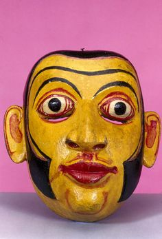 MASKS OF VIETNAM | Painted face mask, Sinhalese from Sri Lanka. | Museum quality art ...