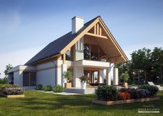 Projekt domu LK&1346 Home Fashion, Gazebo, Architecture Design, House Plans, Villa, House Design, Outdoor Structures, How To Plan, House Styles
