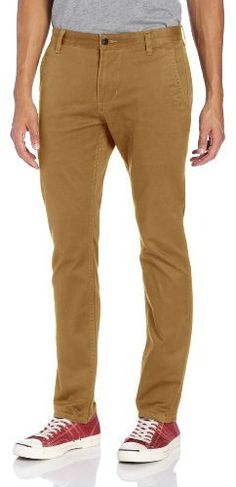 $50, Alpha Khaki Skinny Flat Front Pant by Dockers. Sold by Amazon.com. Click for more info: http://lookastic.com/men/shop_items/33941/redirect