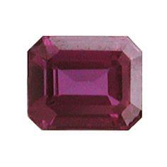 0.36 ct Emerald Cut Ruby Fiery Red -Gold Crane & Co.