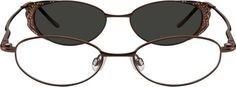 5889 Metal Alloy Spring Hinge Full-Rim Frame with Polarized Magnetic Snap-on Sunlens
