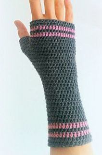 Simple wrist warmers / fingerless gloves all done in half double crochet. Sport weight wool makes for a wearable, lightweight, yet warm mitt. You will need just the one 50g skein to make yourself a pair! Also check out my pattern for wrist warmers all in double crochet.