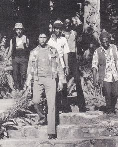 **The Wailers** Gordon Town, Kingston, Jamaica, 1972. ►►More fantastic pictures, music and videos of *The Wailing Wailers/The Wailers→'74/Bob Marley&The Wailers & Robert Nesta Bob Marley* on: https://de.pinterest.com/ReggaeHeart/ ©Charlie Gillett/ www.gettyimages.com