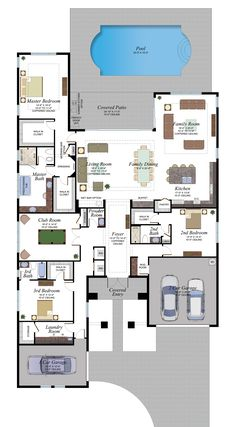 Berkeley features stunning luxury homes in Boca Raton in a pristine and tranquil location. Berkeley Boca offers a private lifestyle with flexible home designs and upscale features and amenities Home Building Design, Home Design Floor Plans, Dream Home Design, Building A House, House Design, Luxury House Plans, New House Plans, Dream House Plans, House Floor Plans