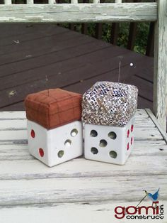 upcycled pincushion ashtray