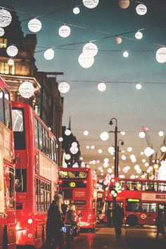 Christmas lights in Oxford Circus, London.  #londonscalling