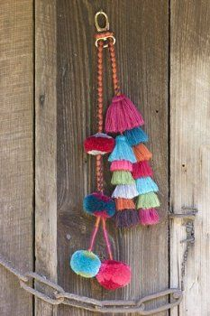 Ks Charming Designs Boutique - I have an idea to use leftover yarn from the afghan tassels to make something like this for my leather saddlebag purse.