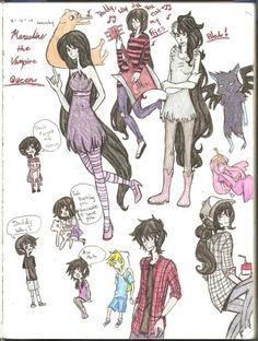Marceline the vampire queen doodles by different13