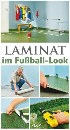 Laminat in typisch braunem Holz-Ton ist doch langweilig. Laminat kann auch grün wie Gras sein. Zur EM haben wir ein ganzes Zimmer in ein Fußballstadion verwandelt – mit dem Laminat im Fußball-Rasen-Look. Wir zeigen, wie man das Laminat richtig verlegt.