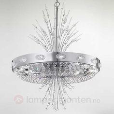 Elegance krystallysekrone. Bestilles enkelt og trygt hos Lampegiganten.no