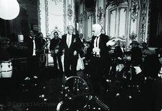 Oscar & Karl Lagerfeld, dancing. Paris, 2002.