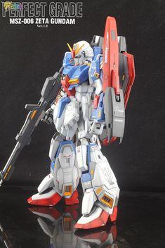 PG Zeta Gundam - Customized Build Modeled by Jon-K Zeta Gundam, Gundam Model, Mobile Suit, Plastic Models, Transformers, Iron Man, Badass, Guys, Inspiration