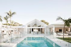 Three Birds Renovations - Bonnie's Dream Home - Outdoor Living - Pool Luxury Home Accessories, Living Pool, Outdoor Living, Indoor Outdoor, Three Birds Renovations, Home Renovations, Small House Renovation, Pool Colors, Modern Coastal