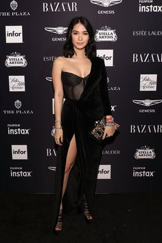 Best red carpet looks from the 2018 harper's bazaar icons party - celebrity dresses Party Outfits For Women, Trendy Outfits, Heart Evangelista Style, Masquerade Party Outfit, Black Women Fashion, Womens Fashion, Fashion Edgy, Fashion Fall, Fashion 2018