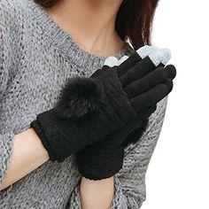 abab3a1680f9d3 Boodtag Mädchen Damen Winter Voll Finger Handschuhe Strickhandschuhe  Fingerlose Fäustlinge Knit Warm Strick Handschuhe Intelligente Touchscreen