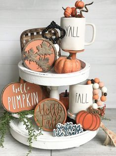 2 Pieces Double Print Fall Decor Autumn Signs Mini Kitchen Wood Ornaments Tabletop Standups Blulu Thanksgiving Table Decorations Pumpkin Spice Table Centerpieces Tiered Tray Decorations