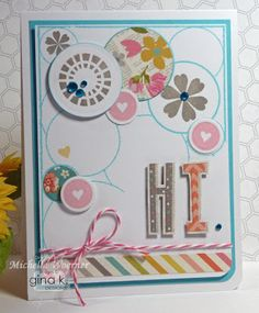 Fabulous Stamped Frames stamp set from Gina K Designs designed by Melanie. #cas #gkd
