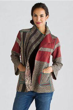 Soho Bamboo Short Jacket: Mieko Mintz: Apparel Jacket | Artful Home: