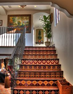 Spanish Colonial Revival - traditional - staircase - los angeles - Pritzkat & Johnson Architects