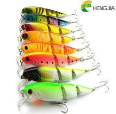 Jointed Lure Fishing Lures Crank Bait Crankbaits Tackle Hooks 10.5cm//9.6g  D7