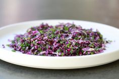 Raw Red Cabbage Salad