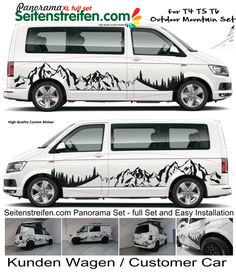 VW Bus Mountain Edition Mountain Panorama Mountain outdoor sports Decal XXL Set – 3000 – Pin's Page Transporteur Volkswagen, Bus Vw, Minivan, Motorhome, Vw T5 Camper, Vw California T6, Vw Camping, Vw Lt, Aston Martin Vanquish
