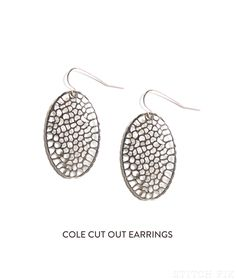 Stitch Fix Cole Cut Out Metal Earrings