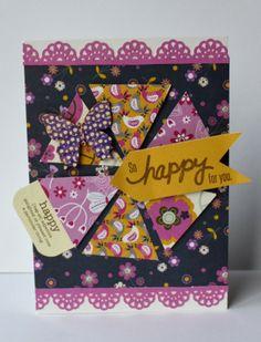 Hampton Art Blog: So Happy For You card by Patty Folchert