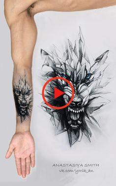 ArtStation - Glaswolf, Anastasiya Smith #bestetatoeage #tattoomodellen Wolf Tattoos, Lion Tattoo, Design Tattoo, Tattoo Designs, Small Tattoos For Guys, Tattoo Models, Watercolor Tattoo, Glass, Small Men's Tattoos
