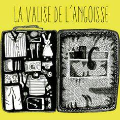 1000 lieux: Les valises... ©1000-lieux dessin, illustration, voyage, partir, en route!