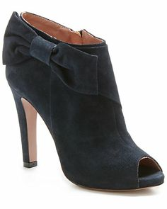 RED Valentino Suede Peep-Toe Bootie http://rstyle.me/n/egceunyg6