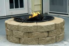 diy outdoor fireplace //costs about $30 but you need to find an old grill bowl for the inside.