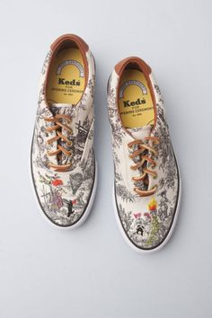 Richard Saja toile de jouy Keds for Opening Ceremony.