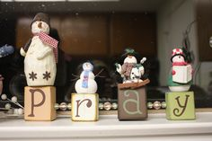 my little pray blocks that I change the theme to each holiday. I love them
