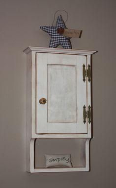 Cabinet, Wall, Small, Medicine, Curio, Shabby Chic, Rustic, Primitive, Cottage