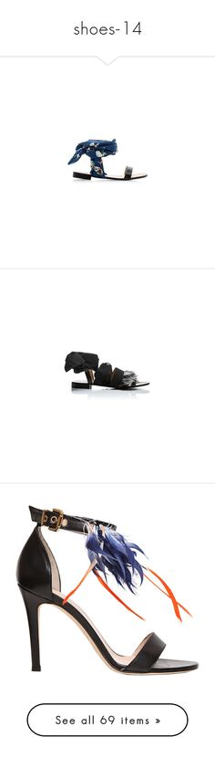 """""""shoes-14"""" by larinhacarter ❤ liked on Polyvore featuring shoes, sandals, leather shoes, flat sandals, ankle strap shoes, ankle strap sandals, strappy leather sandals, flat shoes, ankle strap flat sandals and ankle tie sandals"""