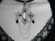 Renaissance Cross Necklace victorian jewelry by Sheekydoodle, $32.00