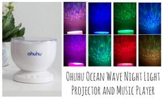 Ohuhu Ocean Wave Night Light Projector and Music Player, gift ideas, review