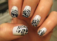 White Zebra Nails