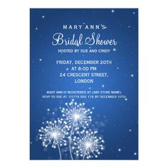 ReviewElegant Bridal Shower Summer Sparkle Sapphire Blue Custom Invitationtoday price drop and special promotion. Get The best buy