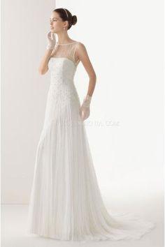 A-linie Schöne Elegante Brautkleider aus Softnetz mit Applikation