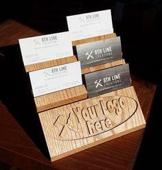 Multiple business card holder gift card display business card multiple business card holder gift card display business card stand business card display 4 tierwalnut 12 different cards work organization colourmoves
