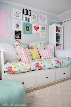 While some shoppers decide to buy a bed room set to make certain all the pieces go together, you call likewise mix and match to create your own personal style. Make sure you have these bedroom furniture basics so you can reside in convenience: Big Girl Bedrooms, Little Girl Rooms, Girls Bedroom, Ikea Girls Room, Bedroom Sets, Bedroom Decor, Bedroom Furniture, Furniture Dolly, Luxury Furniture